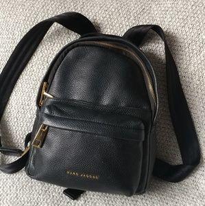 Marc jacobs Varsity Black Leather Mini Backpack